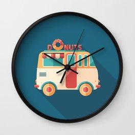 Donuts Van Wall Clock