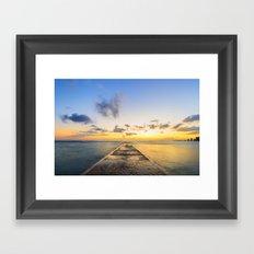Golden Hour in Waikiki Framed Art Print