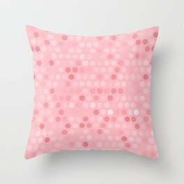 Shades Of Pink Polka Dot Pattern Throw Pillow