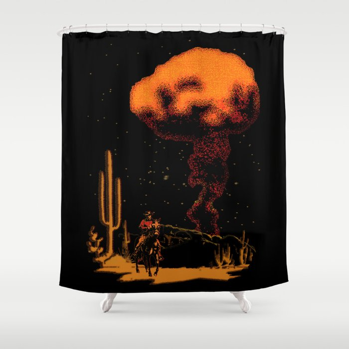 Atomic Cowboy Shower Curtain
