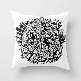 Doodleball Throw Pillow