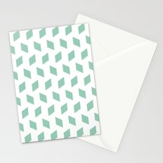 rhombus bomb in grayed jade Stationery Cards