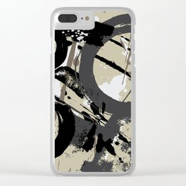 Enso Groove D by Kathy Morton Stanion Clear iPhone Case