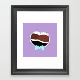 Heart Booty -- Purple Framed Art Print