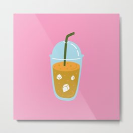 ICE COFFEE Metal Print