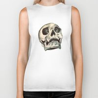 skulls Biker Tanks featuring Skulls by Lauren Florence