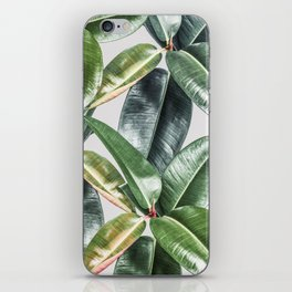 Tropical Leaves Green Lush Pattern | Lush Leaf Photography iPhone Skin
