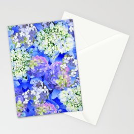 Billowing Blush in Blue Stationery Cards