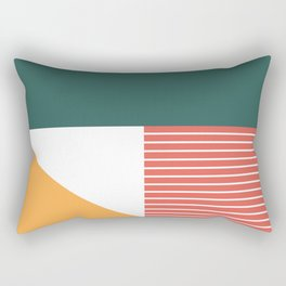Earth-tone Color-block Rectangular Pillow