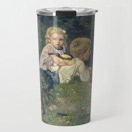 The Butterflies - August Allebé (1871) Travel Mug