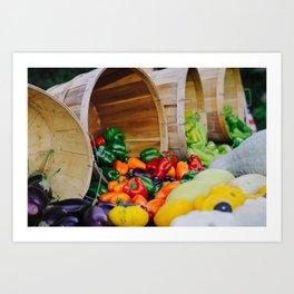 At the Farmer's Market Art Print