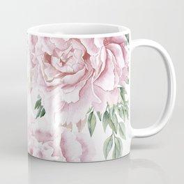 Girly Pastel Pink Roses Garden Coffee Mug