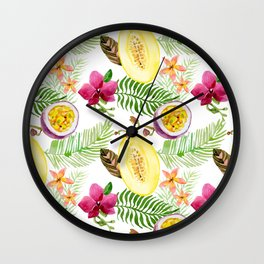 Fruits and Flowers Wall Clock