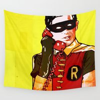 robin Wall Tapestries featuring Robin by Ed Pires