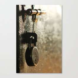 Rusty Lock Canvas Print