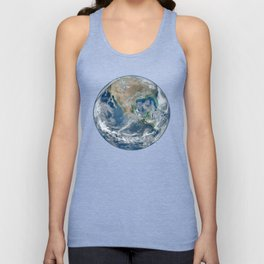 Planet Earth from Above Unisex Tank Top
