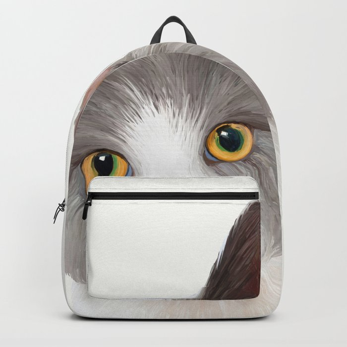 Cat with Yellow Eyes Backpack