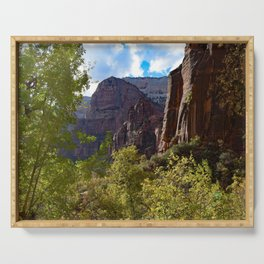 Zion National Park Colors Changing Serving Tray