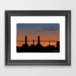 CA cityscape Framed Art Print