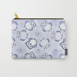 Owls Wallpaper,blue Carry-All Pouch