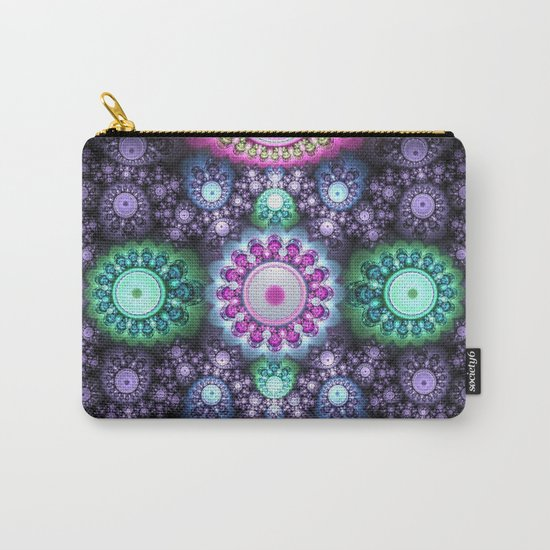 Decorative round patterns, fractal abstract Carry-All Pouch