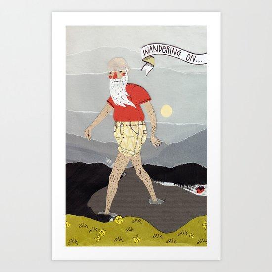 Wandering on... Art Print
