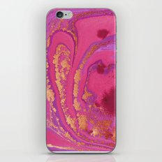 Fluid Gold Pink Fuchsia iPhone Skin
