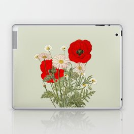 A country garden flower bouquet -poppies and daisies Laptop & iPad Skin