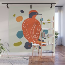 Quirky Helmeted Honeyeater Wall Mural