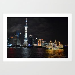 Pudong Night Art Print