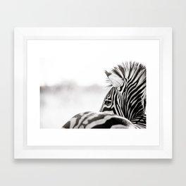Abstract Zebra Framed Art Print