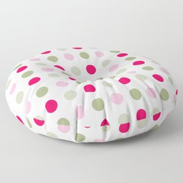 Orange, Red and Blue Dots Colorful  Pattern Cutest Floor Pillow