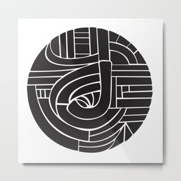 Circle J Metal Print