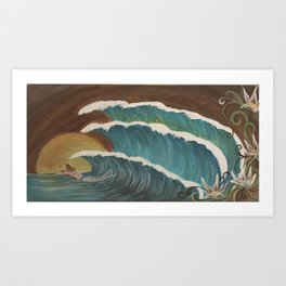 Surfer girl 3 Art Print