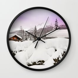 Winter's magic Wall Clock
