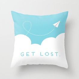 Get Lost. Throw Pillow