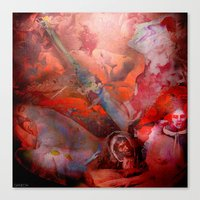 witchcraft Canvas Prints featuring Witchcraft by Ganech joe