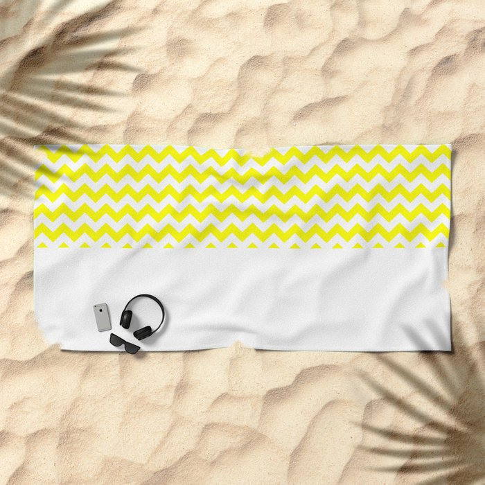 Chevron (Yellow/White) Beach Towel