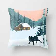 Back home Throw Pillow