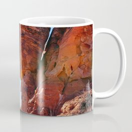 Rock Climber Swinging at Red Rock Canyon Coffee Mug