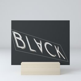 BLACK NEON Mini Art Print