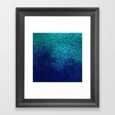 Sea Green Blue Texture Framed Art Print