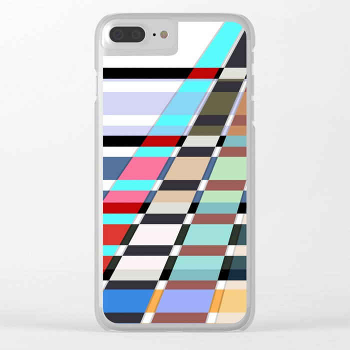 Colorful oblique lines . Abstract pattern 2 . Clear iPhone Case