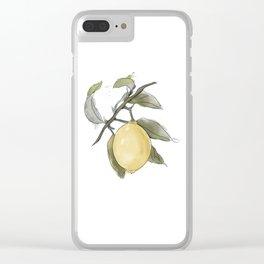 Original Lemon Watercolor Painting #Fruit Clear iPhone Case
