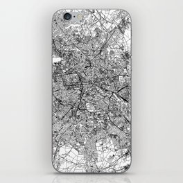 Berlin White Map iPhone Skin