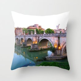Ponte Sant'Angelo Throw Pillow