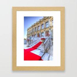 Ciragan Palace Istanbul Red Carpet Framed Art Print