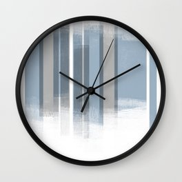 Blue and Grey Retro Style Geometric Abstract - Codex Wall Clock
