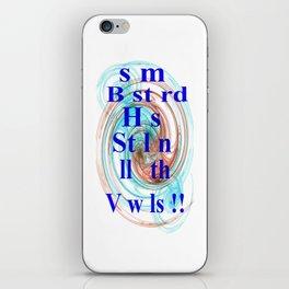 Stolen Vowels (2) iPhone Skin