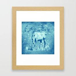 Horse and faerie lights Framed Art Print
